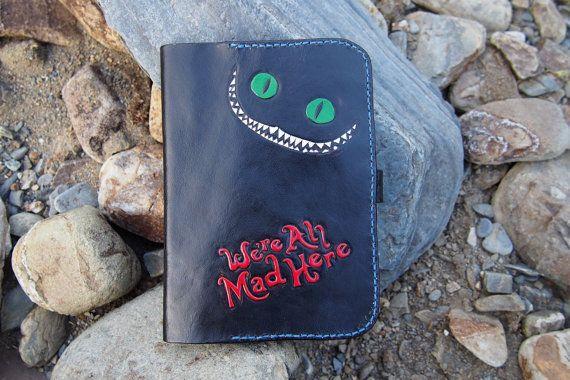 leather kindle case Alice in Wonderland by PocillatorWorkshop