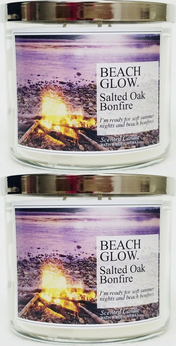 Candles 46782: Bath And Body Works Beach Glow Salted Oak Bonfire 3 Wick Candle ~ Lot Of 2 -> BUY IT NOW ONLY: $40.89 on eBay!