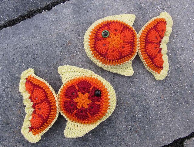 Ravelry: floeckchen75's African flower fish pattern