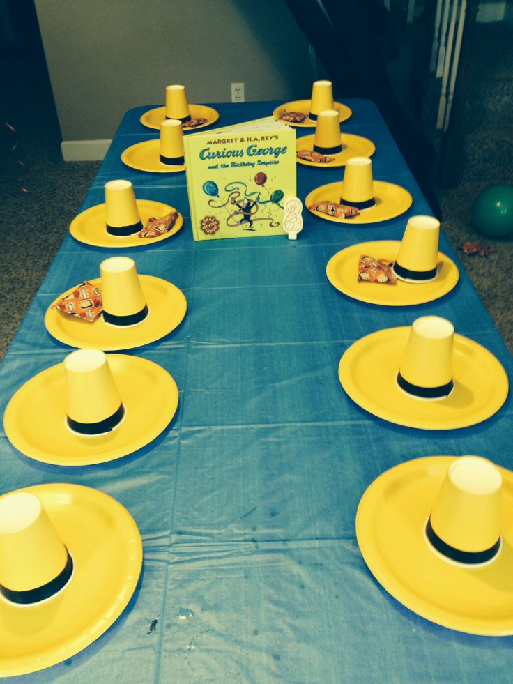 Curious George birthday party Could use as a center piece to hold markers for a craft