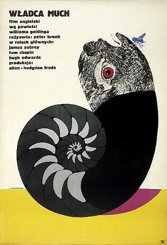 Polish poster for Lord of the Flies http://wellmedicated.com/inspiration/50-incredible-film-posters-from-poland/