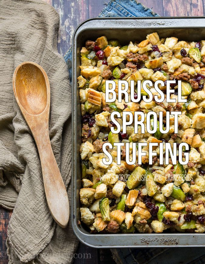 Brussel Sprout Stuffing | Recipe | Lost, Chorizo sausage ...