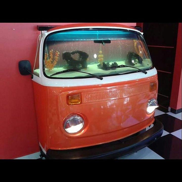 vw bus fish tank