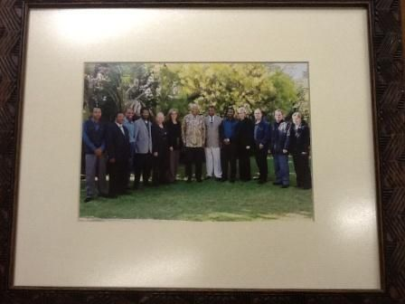 "THE SABC Radio Archives personnel met Nelson Mandela in 1999 with the launch of his CD ""The voice of Nelson Mandela"" http://sabcmedialib.blogspot.com/2013/07/nelson-mandelas-voice-priceless.html (photo from the archives)"