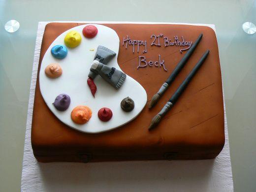 60 best Artist Cakes images on Pinterest Artist cake ...
