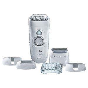 Braun Silk-épil 7-561 Wet&Dry Épilateur Électrique Jambes, Corps et Visage pour Femme – CloseGrip et 6 Accessoires, Tête de Rasage et…