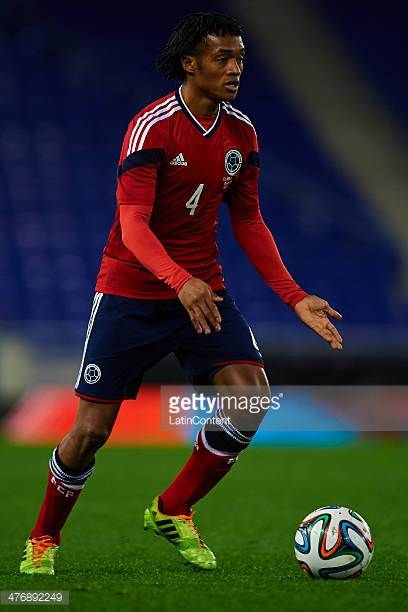 Juan Guillermo Cuadrado of Colombia runs with the ball during the International friendly match between Colombia and Tunisia at Cornella el Prat...