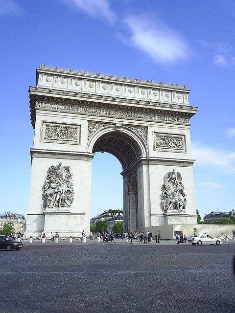 L'Arc de Triomphe  At the end of the Champs Elysees, L'Arc de Triomphe