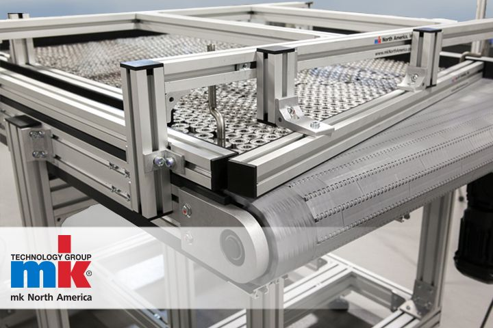mk North America offers a variety of storage conveyor options; these units are typically referred to as #recirculatingconveyors, #bi-flow conveyors or #accumulation tables.  #aluminumconveyor #plasticmodularbelt #flattopchain