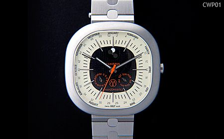 Canopus Weekplanner watch Model CWP01 dial black  and ivory with metal strap
