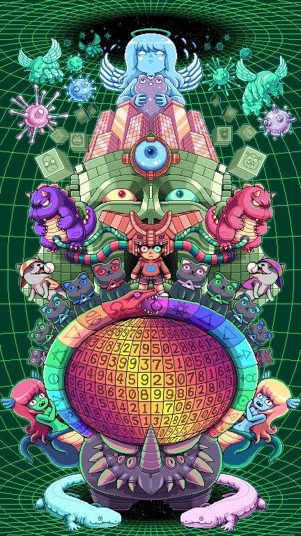L'illustrateur australien Paul Robertson réalise des gifs animés complexes remplis de petits personnages en mouvement aux couleurs acidulées.