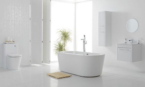 One of the best white bathrooms design of 2014.
