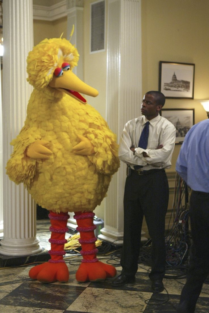 Even Big Bird loved Sorkin's White House.