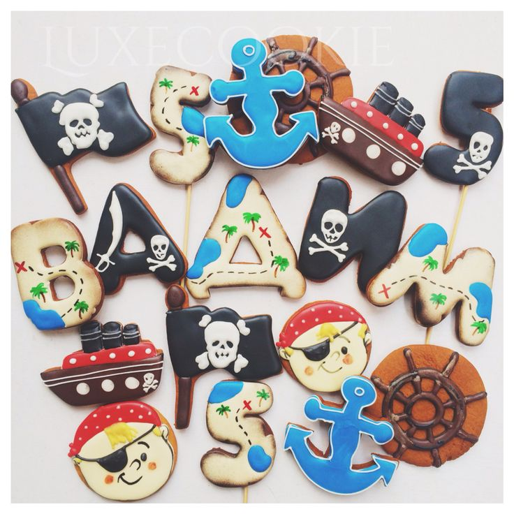 Pirate cookie decor