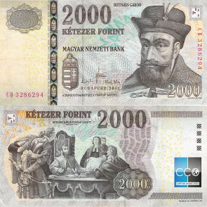 Au recto, le personnage est Gabriel Bethlen : (1580-1629) chef de guerre et  homme politique hongrois élu Prince de Transylvanie (1613-1629) et roi de Hongrie (1620-1621).