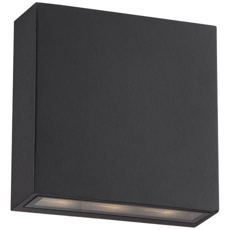 """Stanford Black Outdoor LED Wall Up and Downlight - #2W561 