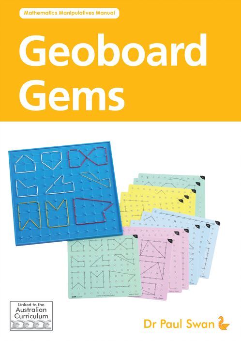 Geoboard Gems Book by Dr Paul Swan #edxeducation #handson #learningisfun #mathmanipulatives
