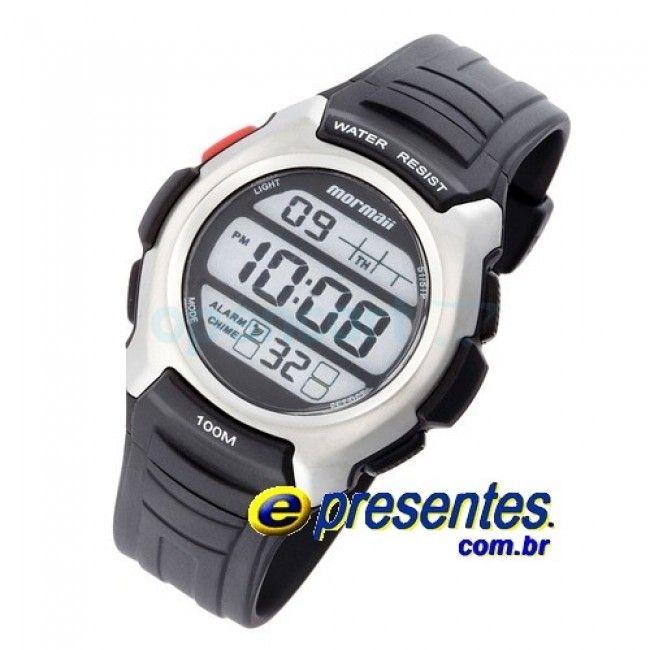 GO/8C - Relógio MORMAII Digital, Masculino Pulseira em Poliuretano