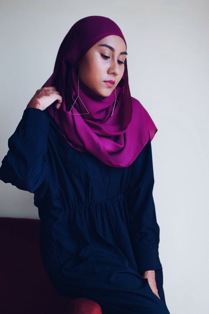 Hijab With Earrings + Favourite Black Jumpsuit