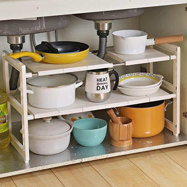 Amazon Com Home Organization And Storage 4 Stars Up Prime Eligible Under Sink Organization Sink Organizer Home Kitchens