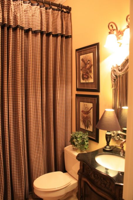 17 best ideas about french country curtains on pinterest cafe curtains french country fabric - Small country bathroom designs ...