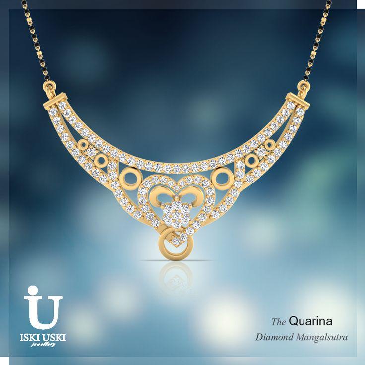 Shop online Diamond Mangalsutra in India with latest designs at IskiUski.com