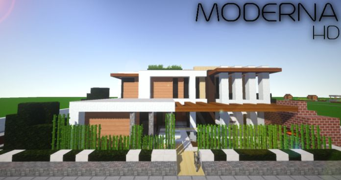 """Moderna HD Resource Pack features modern textures that can """"turn every Minecraft building project into a masterpiece"""". According to the creator you will be able to build realistic infrastructures and buildings! ThisTexture Pack is compatible with Minecraft version 1.11.2, 1.11,..."""