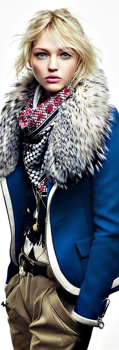 HAIR INSPIRATION. Love the face-framing tendrils here!  // Sasha Pivovarova by Craig McDean for Vogue Japan