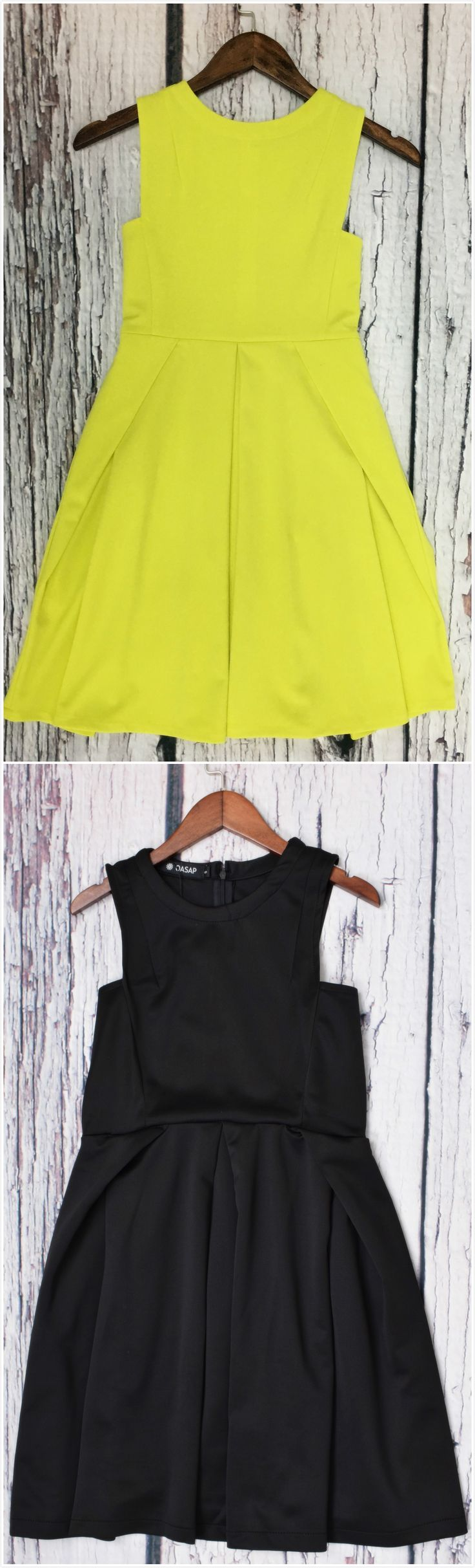 The dress is design with color block, open shoulder, pleated design. Simple but casual style makes you more fashion. More color at OASAP.com