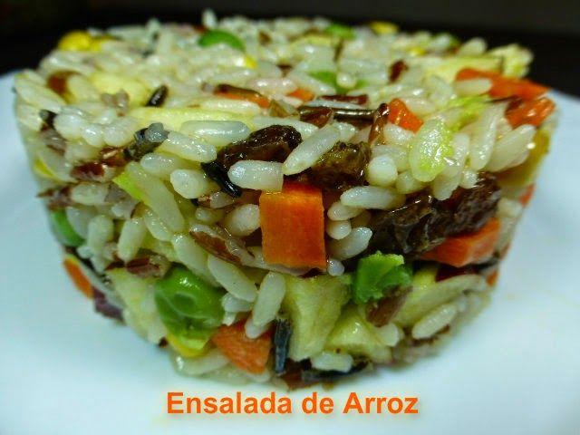 Ensalada de arroz ensaladas pinterest recetas - Arroz con verduras light ...