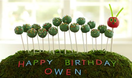 VHC cake pops: Cakes Ideas, Cakes Pop, Birthday Parties, 1St Birthday, Very Hungry Caterpillar, Parties Ideas, Hungry Caterpillar Cakes, Birthday Ideas, Birthday Cakes