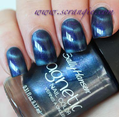 Scrangie: Sally Hansen Magnetic Nail Color - Ionic Indigo