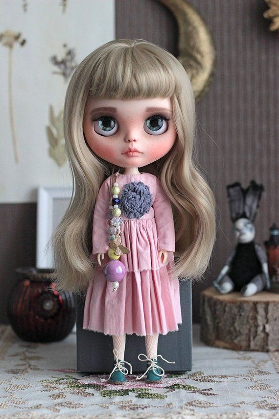 Reserved For Merce Custom Blythe Doll With Natural Hair Tbl In