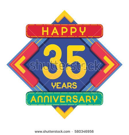 35 Years Anniversary Celebration Design.