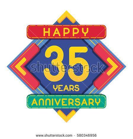 35 Years Anniversary Celebration Design.