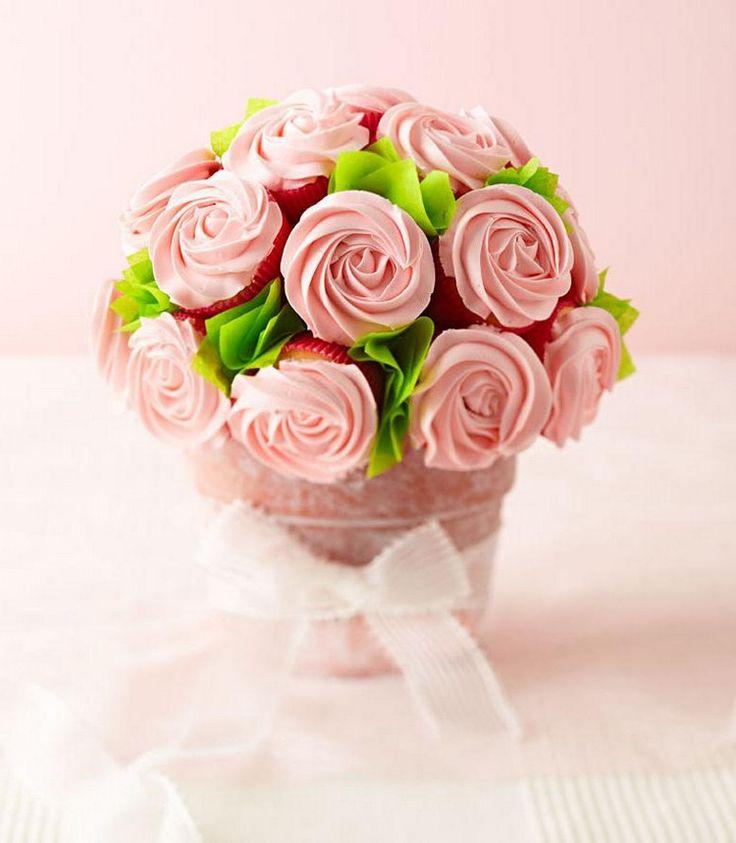 Cupcake Blumenstrauß als Geschenk für beste Freundin