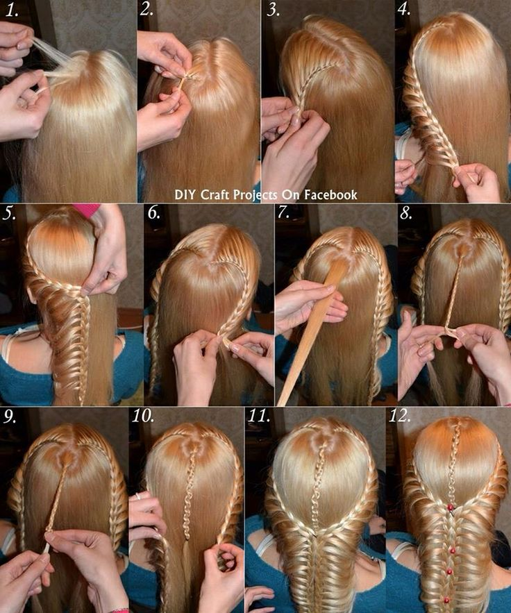 Very Persian-looking double side lacebraids combined with slideup braid at the back.