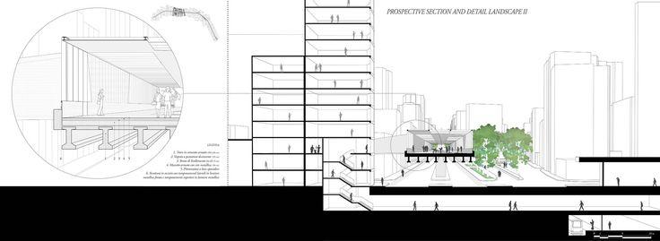 MINHOCÃO PARK - viola lambrughi, elena sella #prospective #section #detail #sezione #prospettica #prospettiva