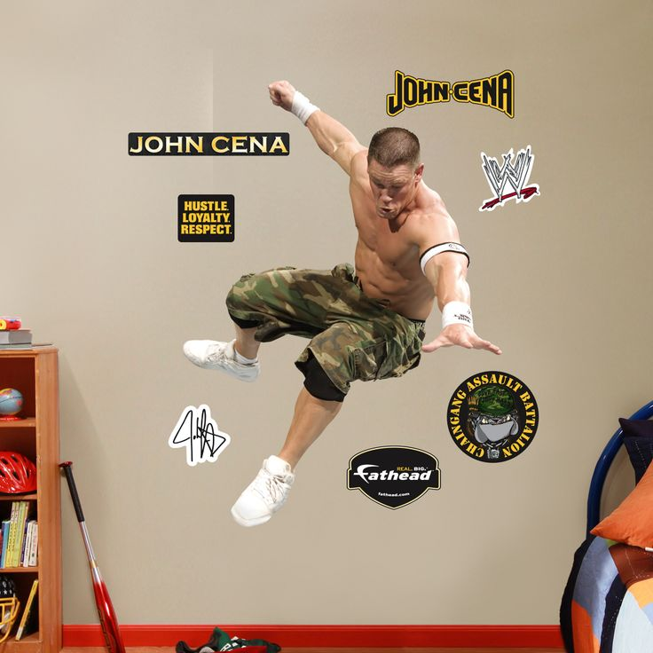 Wwe John Cena Wall Stickers Details About Sticker Fathead Fat Head Wrestling