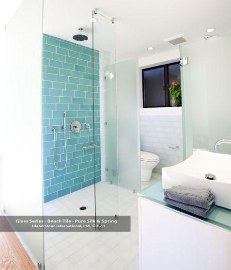 dream bathroom tile island stone glass beach tile in spring