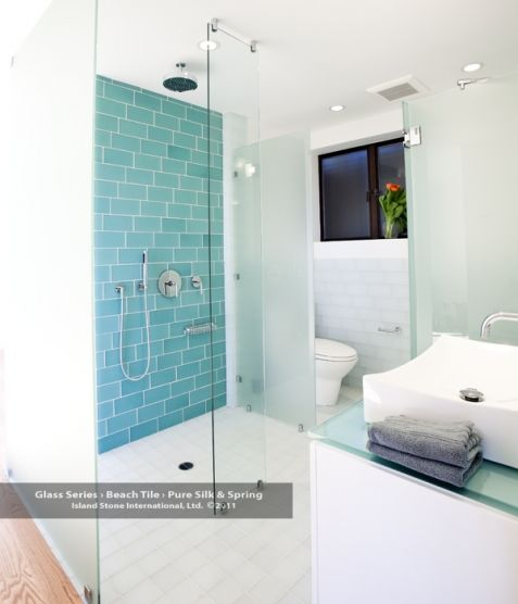 17 Best images about Bathroom Design – Glass Tiles in Bathroom