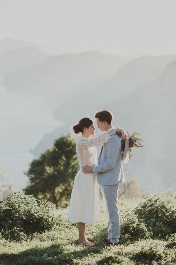 Dreamy Cliffside Amalfi Coast Elopement Inspiration