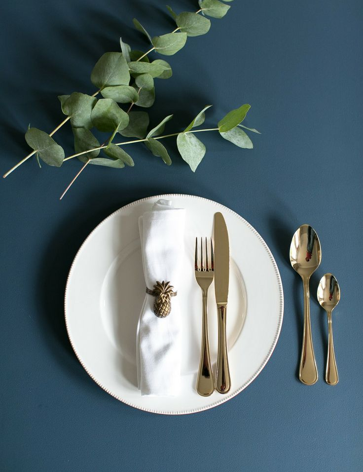 Gold 16 Piece Cutlery Set at Rose and Grey £85