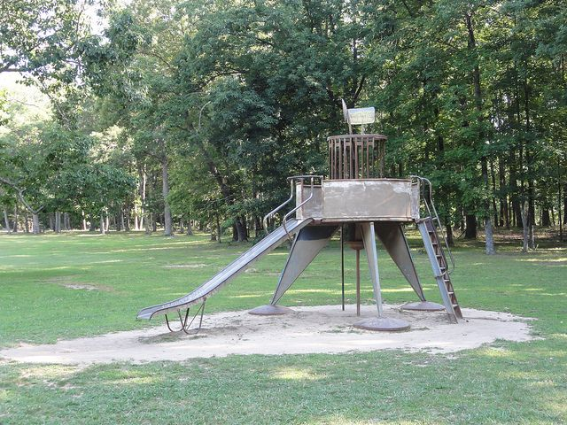 vintage public park playground equipment