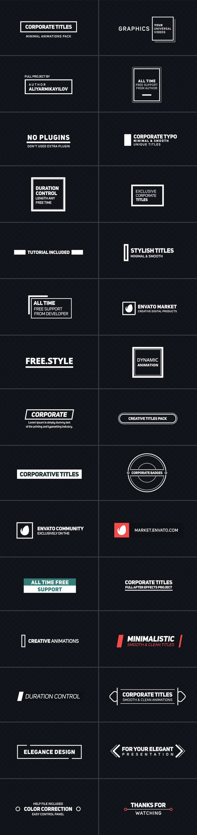 Corporate Titles - After Effects Project Files | VideoHive