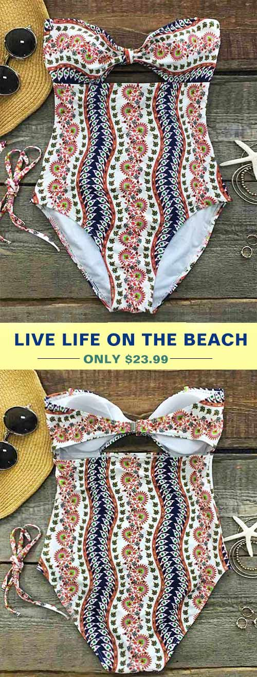 Treat Yourself to Something Special. You have a responsibility to kill it in this baby. Faster shipping, $19.99! Chic high waistline meets bow design bikini top and removable halter design. It's eye-catching. Shop Now!