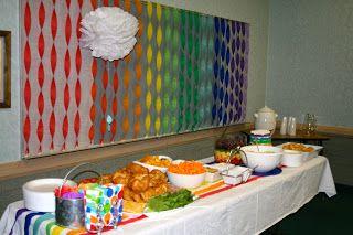 Larcie Bird: I Like to Look for Rainbows {LDS Baptism} Rainbows Baptism Luncheon