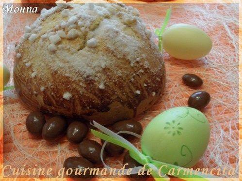 C'est une recette que j'ai déjà publié au tout début de mon blog. La mouna est un gâteau traditionnel pour les fêtes de Pâques.Pour moi cela évoque beaucoup de souvenirs d'enfances, alors j'essaie à mon tour de faire perpétuer cette tradition, mais aussi...