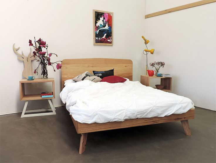 Made from mixed recycled Australian hardwoods, this Scandinavian influenced bedhead and frame is a simple and elegant design.Available with bespoke leg options including timber (pictured) or metal. Price range: $1,400 – $2,200 AUD