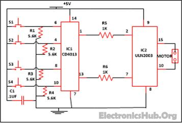 Curtain Opener and Closer Circuit Diagram Source Link: http://www.electronicshub.org/curtain-opener-and-closer-circuit/